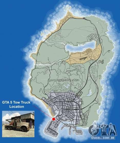 Onde encontrar Tow truck em GTA 5