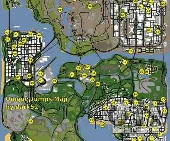 Mapa exclusivos de saltos no GTA San Andreas