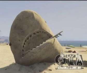 GTA V areia tubarão na praia