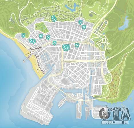Faca de voo do mapa de GTA 5