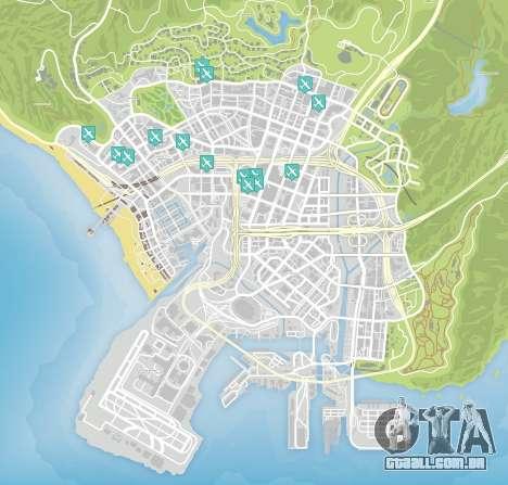 Faca de voo do mapa de GTA 5