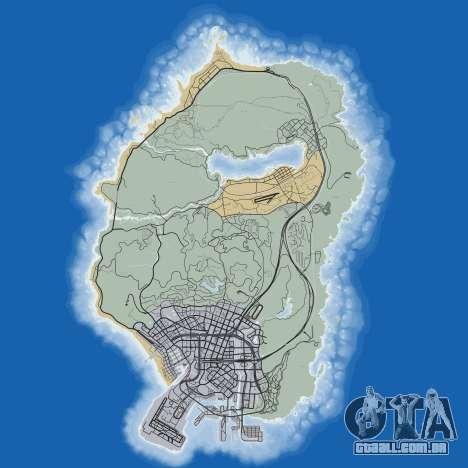 Mapa de calle de Grand Theft Auto 5