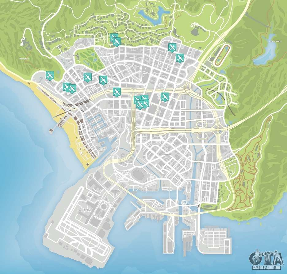 Secret Places Gta 5 Ps4: GTA 5: Faca Voos Mapa