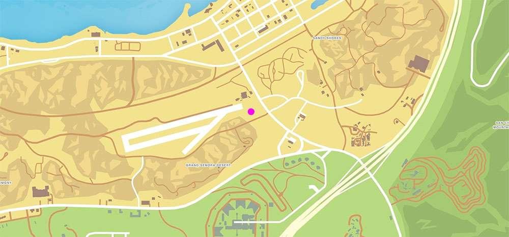 Еще одно место расположение вертолёта в GTA Online