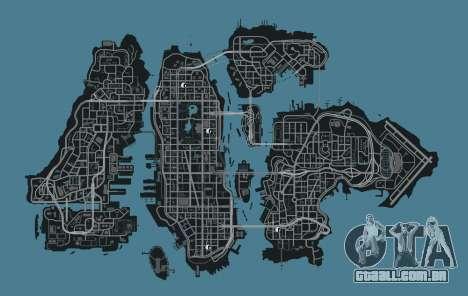 Mapa de lojas de roupas GTA 4