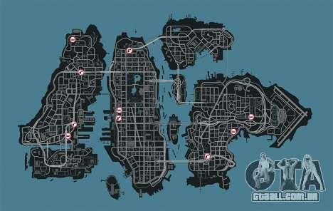 Mapa de garagens no GTA 4
