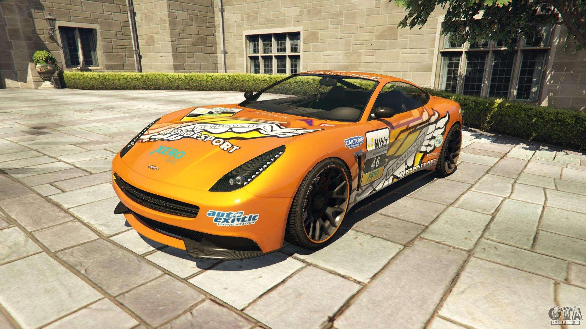 Dewbauchee Massacro Racecar do GTA 5 - vista frontal
