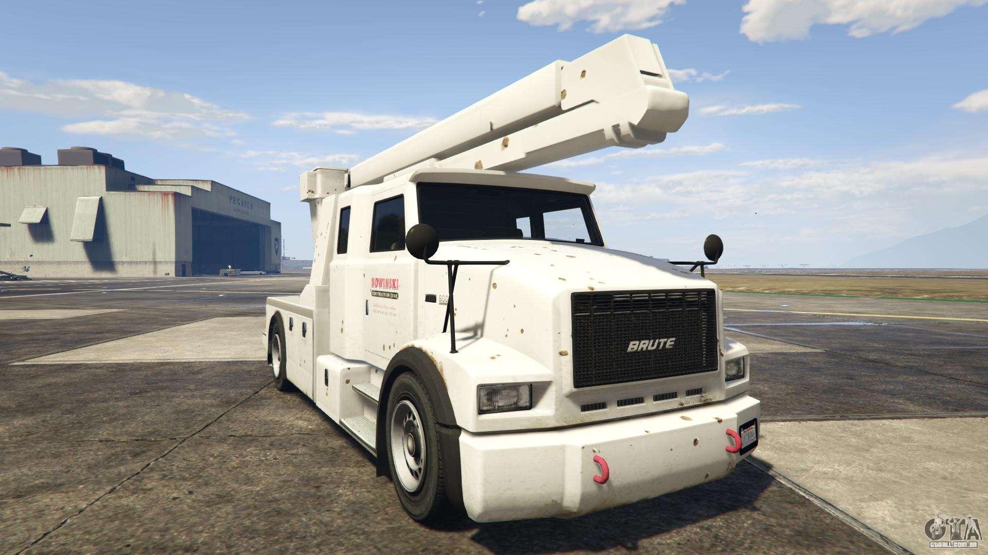 GTA 5 Brute Utility Truck - vista frontal