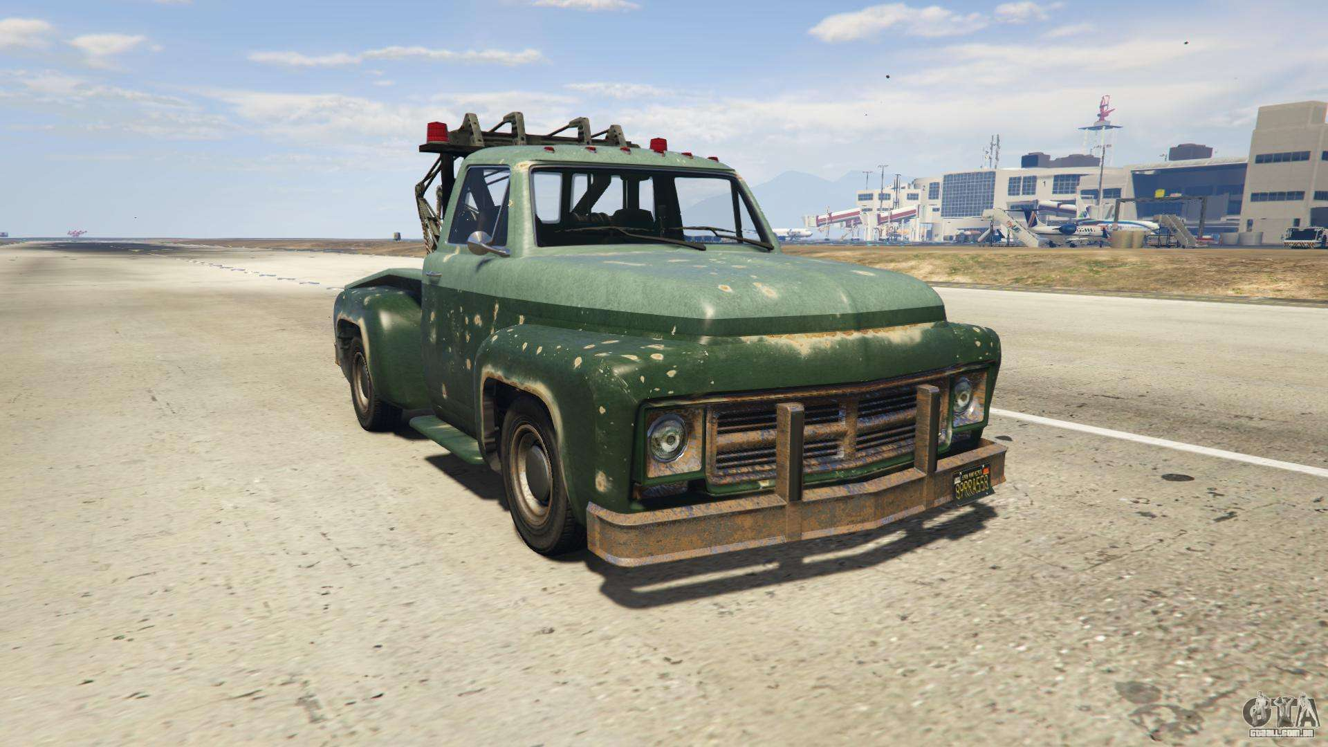 GTA 5 Vapid Tow Truck - vista frontal