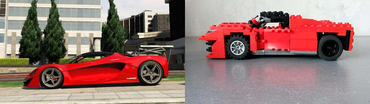 Lego Grotti Turismo R - vista lateral