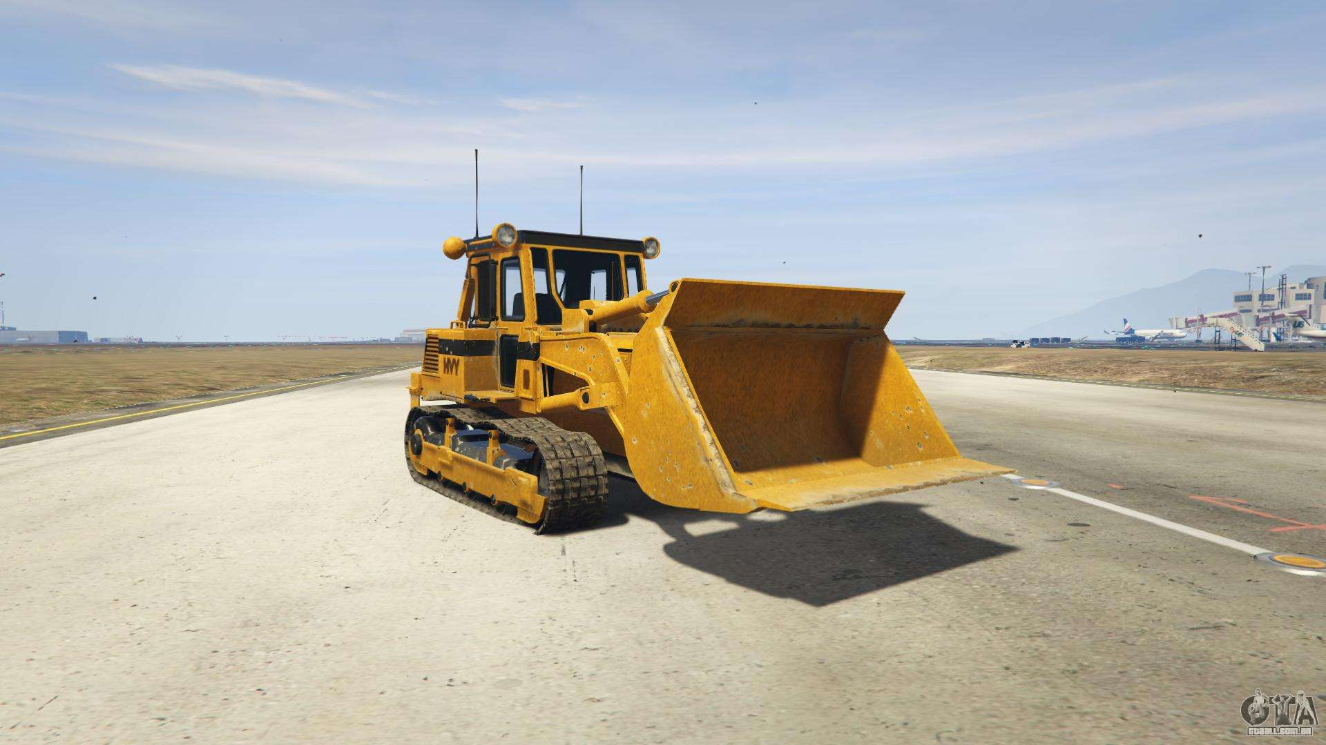 GTA 5 HVY Dozer - vista frontal