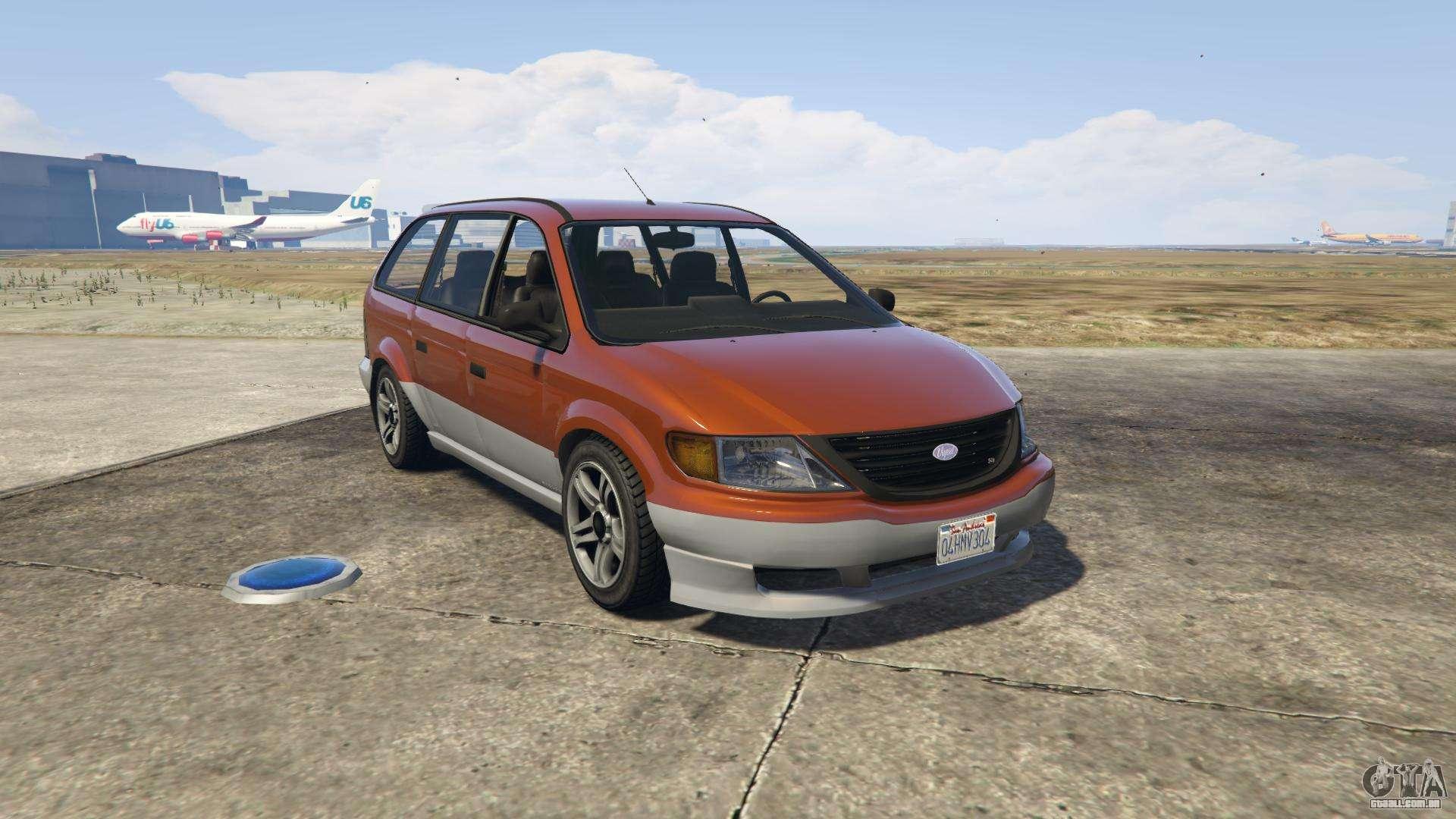 GTA 5 Vapid Minivan - vista frontal