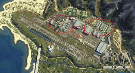 Mapa de Fort de Zancudo de GTA 5