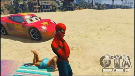 Spider-Man na praia em GTA 5