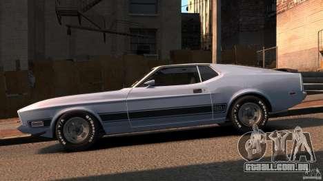 Ford Mustang Mach 1 1973 v2 para GTA 4 esquerda vista