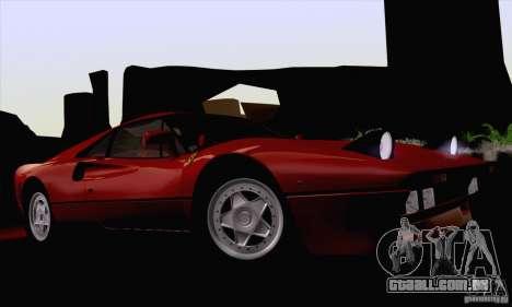 Ferrari 288 GTO 1984 para GTA San Andreas vista interior