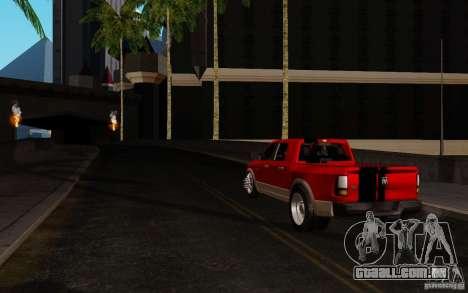 Dodge Ram 3500 Tuning para GTA San Andreas traseira esquerda vista