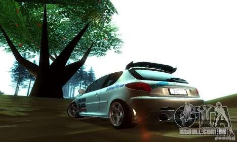 Peugeot 206 Tuning para GTA San Andreas traseira esquerda vista