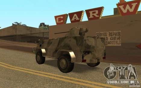 GÁS-3937 Vodnik para GTA San Andreas traseira esquerda vista