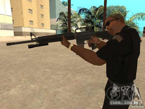 M4A1 from Left 4 Dead 2 para GTA San Andreas por diante tela