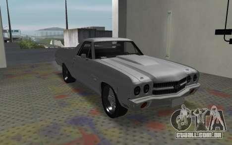 Chevrolet El Camino SS para GTA San Andreas esquerda vista