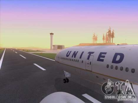 Boeing 777-200 United Airlines para GTA San Andreas vista superior