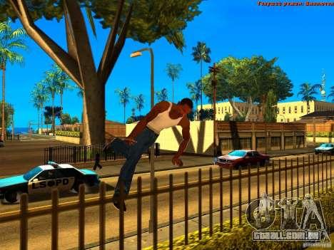 New Animations V1.0 para GTA San Andreas quinto tela