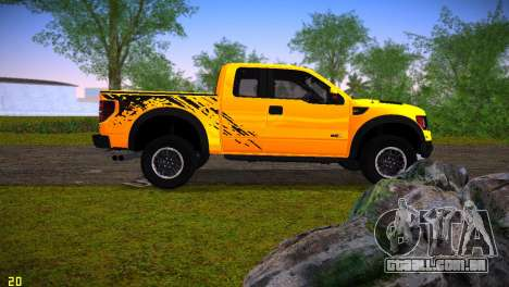 Ford F-150 SVT Raptor para GTA Vice City deixou vista