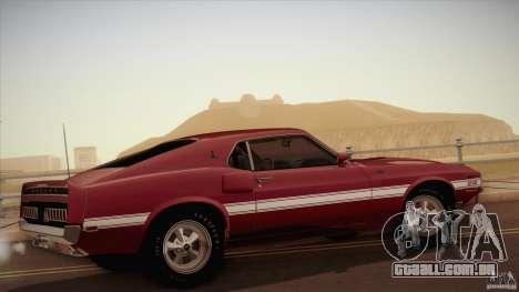 Shelby GT500 428 Cobra Jet 1969 para GTA San Andreas esquerda vista