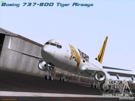 Boeing 737-800 Tiger Airways para GTA San Andreas