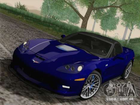 Chevrolet Corvette ZR1 para GTA San Andreas vista interior