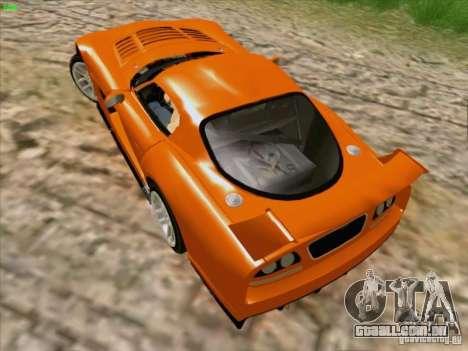 Dodge Viper GTS-R Concept para GTA San Andreas vista interior