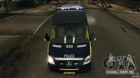 Mercedes-Benz Sprinter Police [ELS] para GTA 4 vista inferior