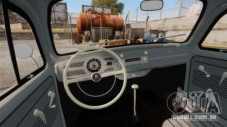 Volkswagen Fusca Edit para GTA 4 vista interior