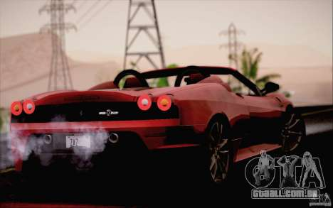 Ferrari F430 Scuderia Spider 16M para GTA San Andreas vista direita