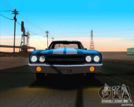 Chevrolet EL Camino SS 70 para GTA San Andreas vista inferior