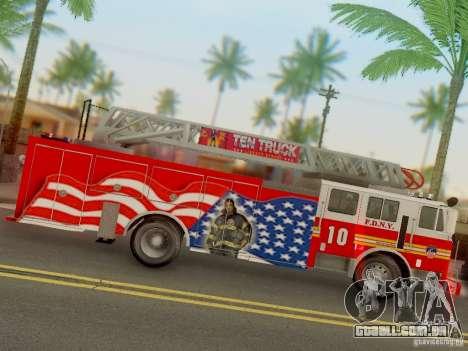 Seagrave FDNY Ladder 10 para GTA San Andreas vista traseira