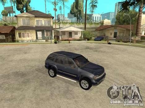 Chevrolet TrailBlazer 2003 para GTA San Andreas vista traseira