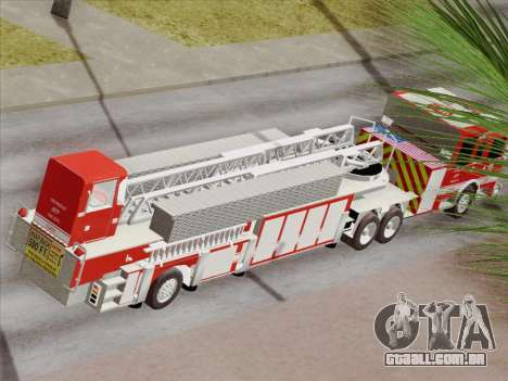 Pierce Arrow XT LAFD Tiller Ladder Truck 10 para as rodas de GTA San Andreas