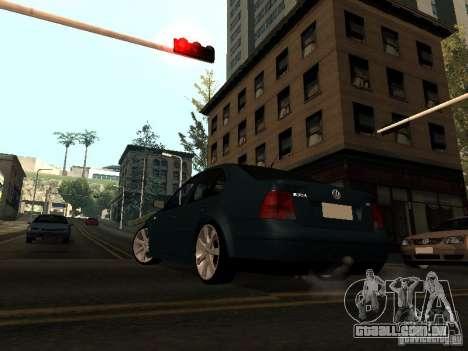 Volkswagen Bora DUB para GTA San Andreas traseira esquerda vista