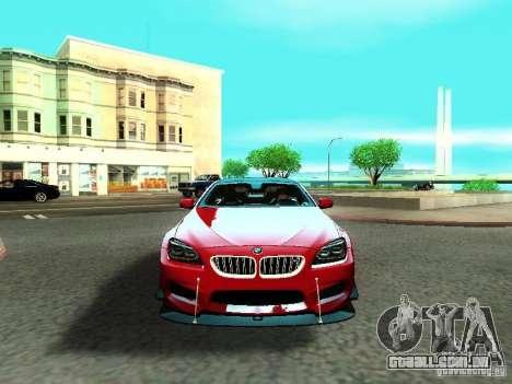 BMW M6 2013 para GTA San Andreas vista superior