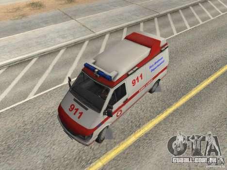 Ford Transit Ambulance para GTA San Andreas vista direita