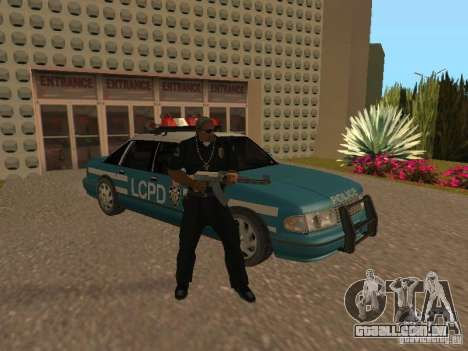 HD Police from GTA 3 para GTA San Andreas vista inferior