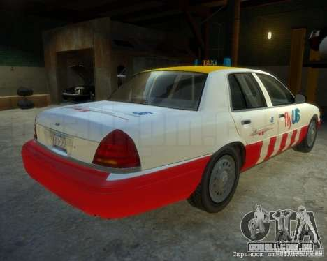 Ford Crown Victoria for FlyUS Car para GTA 4 traseira esquerda vista
