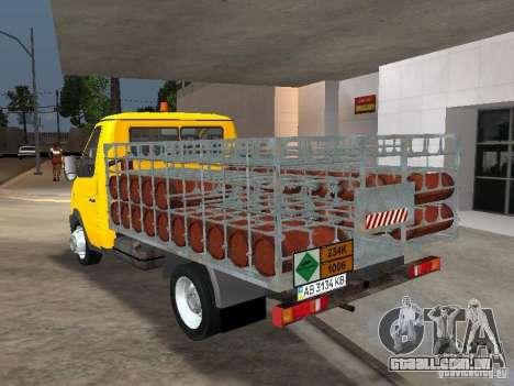 GAZ 3302 Balonovoz para GTA San Andreas traseira esquerda vista