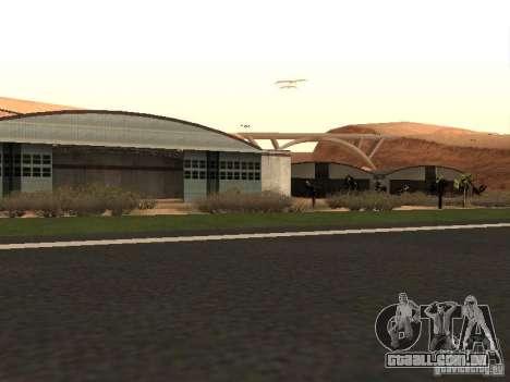 O novo aeroporto para GTA San Andreas por diante tela