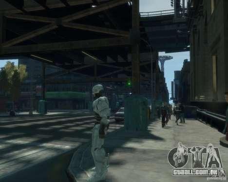 Pele Robokopa para GTA 4 por diante tela