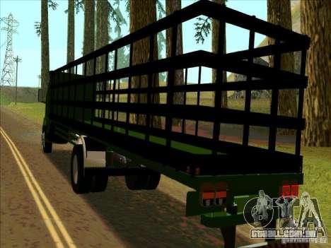 Ford Cargo para GTA San Andreas traseira esquerda vista