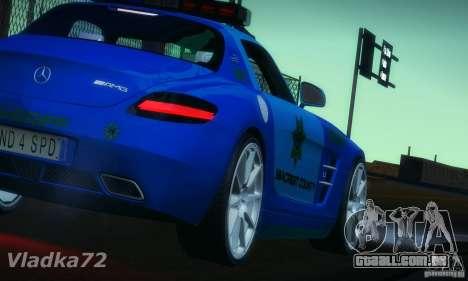 Mercedes-Benz SLS AMG Blue SCPD para GTA San Andreas esquerda vista