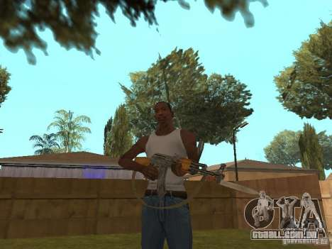 AK 47 com um HD de baioneta-faca para GTA San Andreas terceira tela